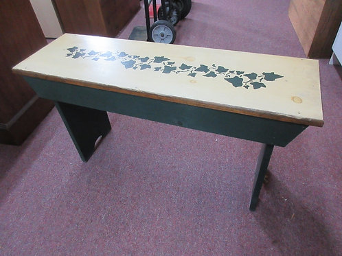Rusitc bench with ivy leaf design - large