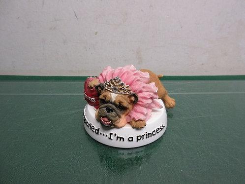 "Zelda bulldog statue ""I'm not spoiled, I'm a princess"