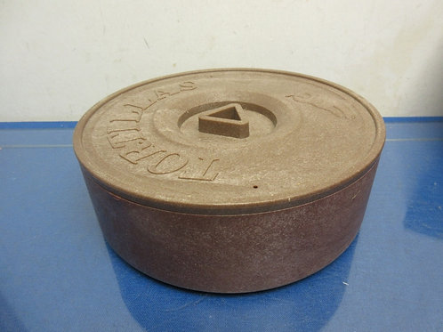 Tortillas warming container with heating stone
