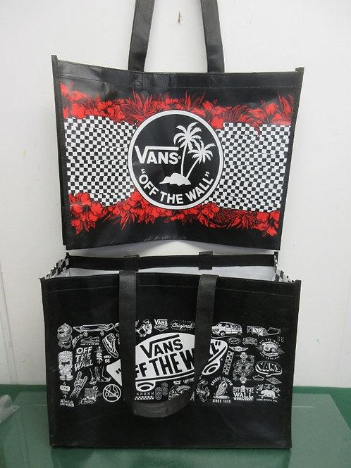 Pair of vinyl shopping bags, New