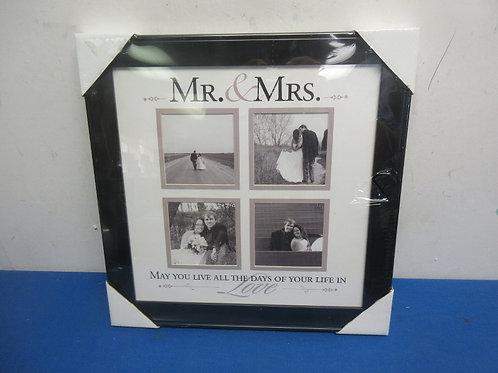 """Collage 4 slot """"Mr. & Mrs."""" photo frame, New"""