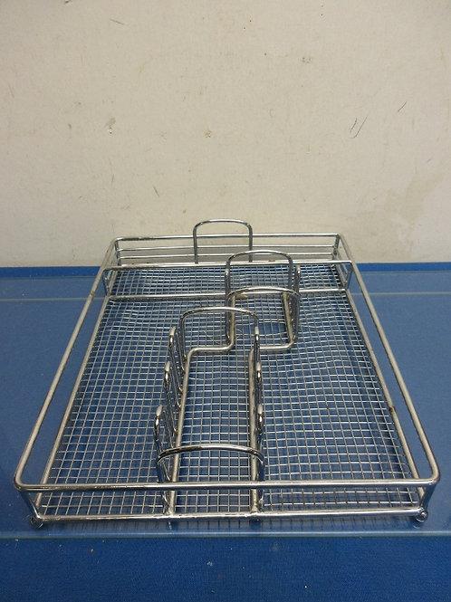 Silver metal flatwarae drawer organizer