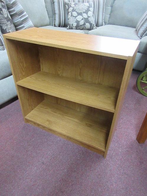 Natural tone small pressed wood shelving unit - 11x29x30