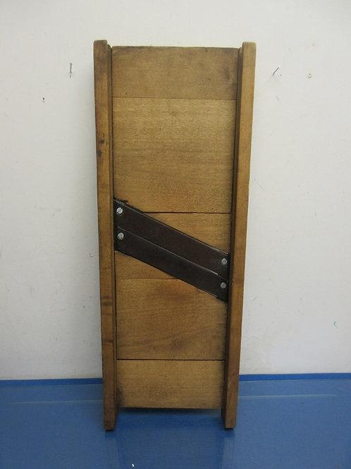 """Vintage wooden Kraut Cutter, 8x24""""long"""