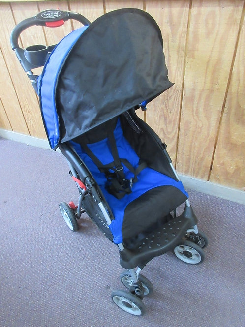 Blue and black jeep child's stroller