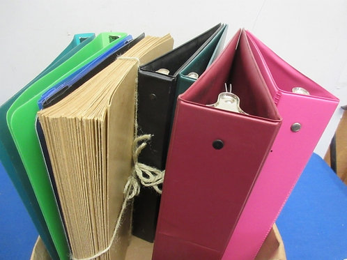 Box of assorted binders and file folders