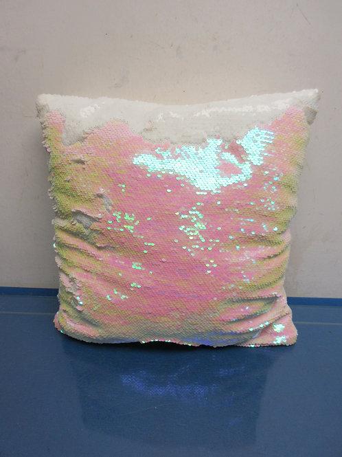 Sequin pillow, pastel colors