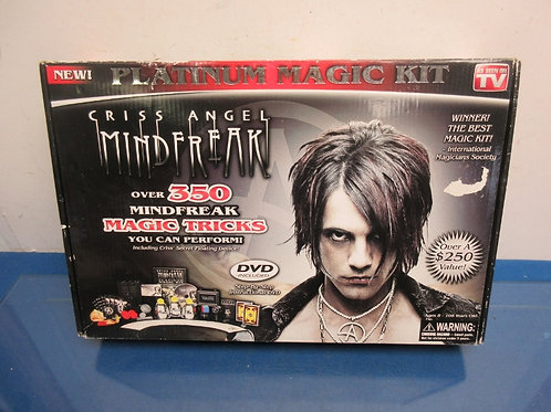 Criss Angel mind freak magic set, includes DVD, ages 8 and up