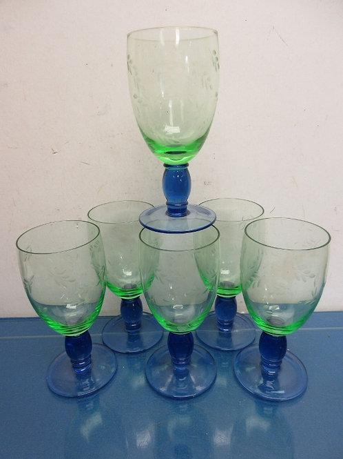 Pfaltzgraff Summer Breeze set of 6 iced tea 17oz glassware