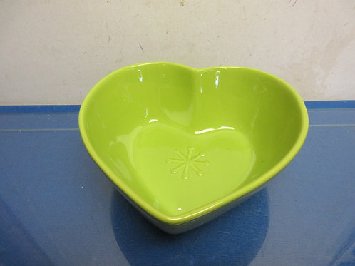 Happy Chic lime green heart shaped bowl