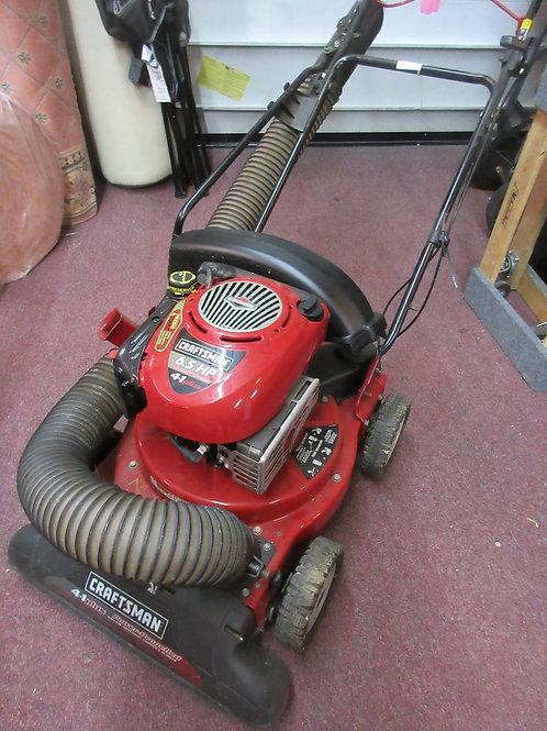 """Craftsman 24"""", 6.5hp self propelled 4-in-1 mower,chipper, vacuum & blower,"""