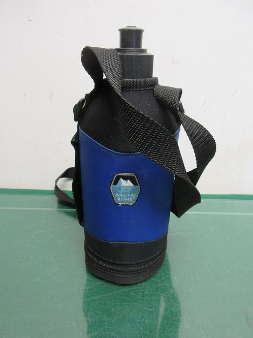 Arctic zone water bottle with insulated cover - blue and black