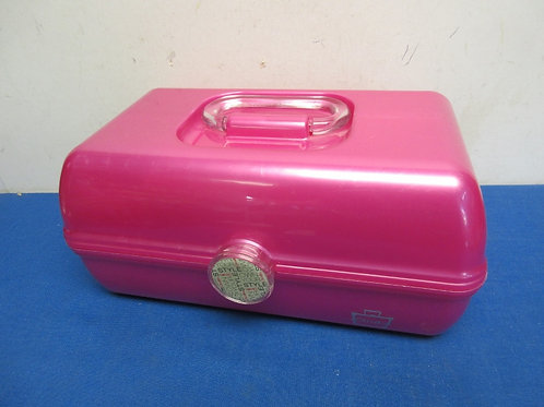 Hot pink multi level make up carrier