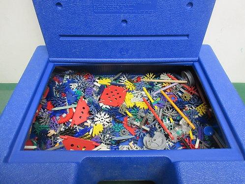 K'nex building block playset in blue carry case