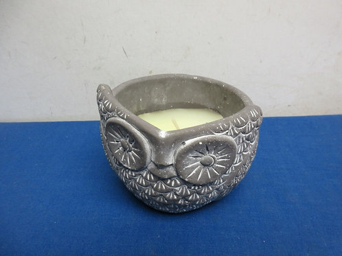 """Ceramic owl with new candle inside 4.5"""" high"""
