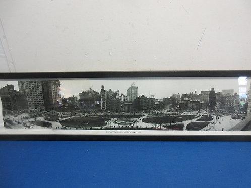 "Vintage photo of Union Square NY,9x37"""