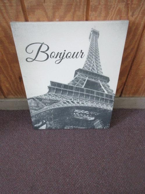 Stretch vinyl photo of Eiffel Tower