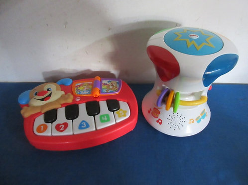 Fisher Price 2-in-1 drum and Laugh & Learn puppy piano