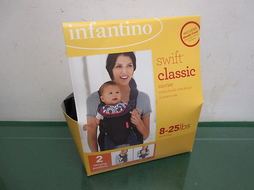 Infantino swift clssic carrier - 2 carrying positions - 8-25lbs - black brand ne