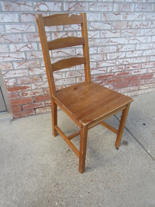 Basic wooden chair, 2 available