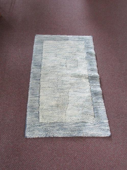 "Blue shag throw rug,20x32"""