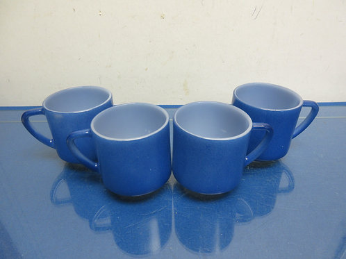 Set of 4 heat proof coffee mugs