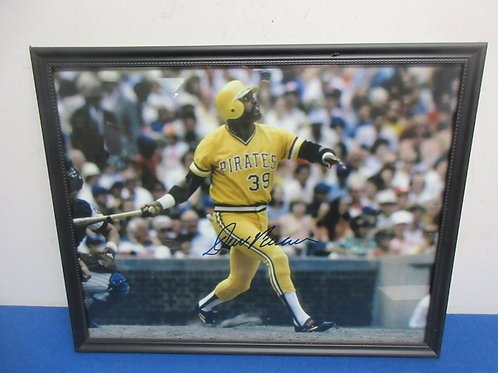 Autographed Dave Parker colored photo  in black frame, 12x15