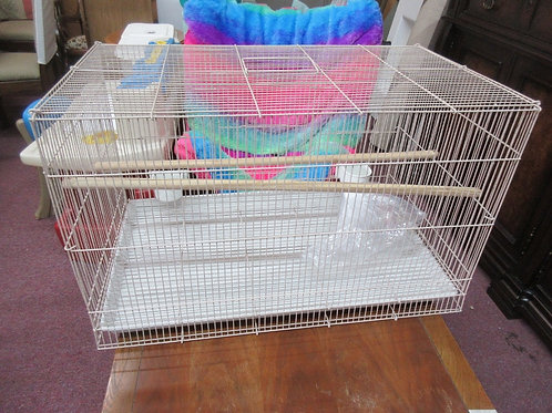 """Wire bird cage 18x18x30""""tall w/pull out tray and accessories"""