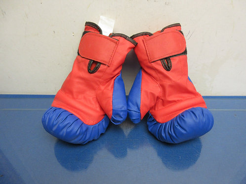 Pair of child's red & blue boxing gloves