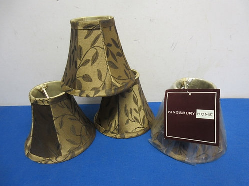 Set of 4 small gold chandalier style lamp shades