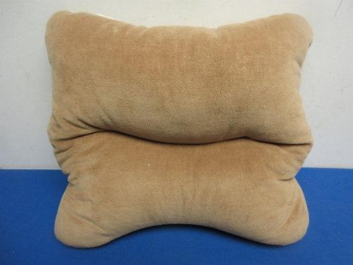 Beige laptop pillow stand
