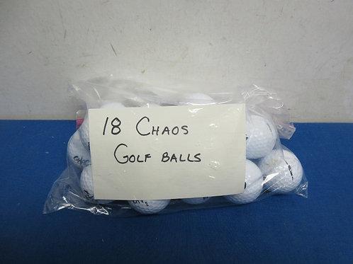 Set of 18 Chaos Golf Balls