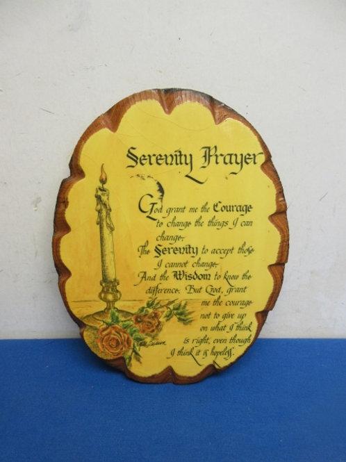 Wooden wall plaque, serenity prayer