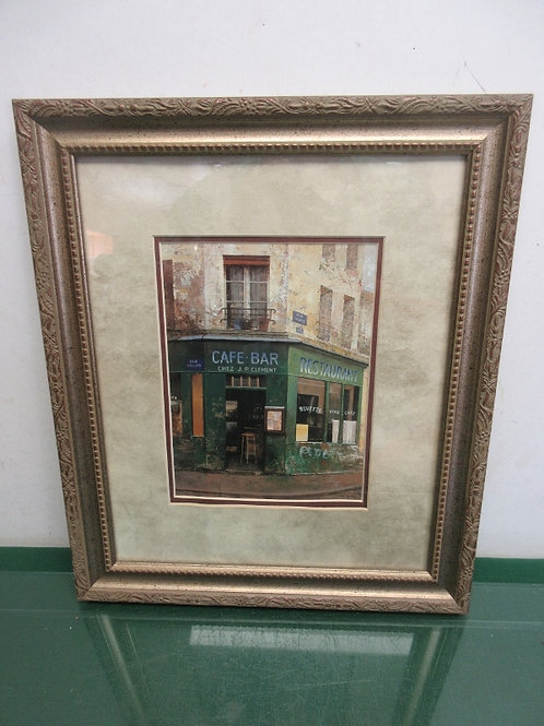 "French Cafe print in gold frame 13x15"", 2  similar available"