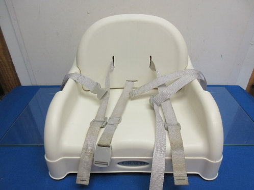 Graco white plastic child's booster seat with adjustable  back as child grows