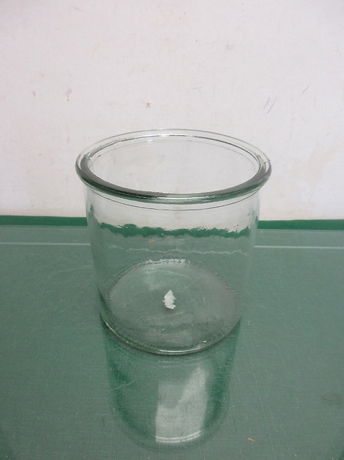 Clear glass utensil container