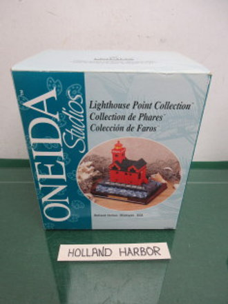 Oneida Studios Lighthouse point collection,Holland Harbor Michigan ,new in box
