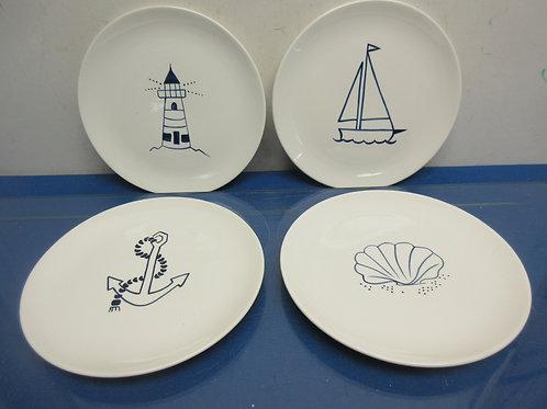 Set of 4 by the sea, Trish Richmond salad plates