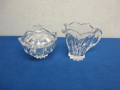 Glass sugar and creamer set