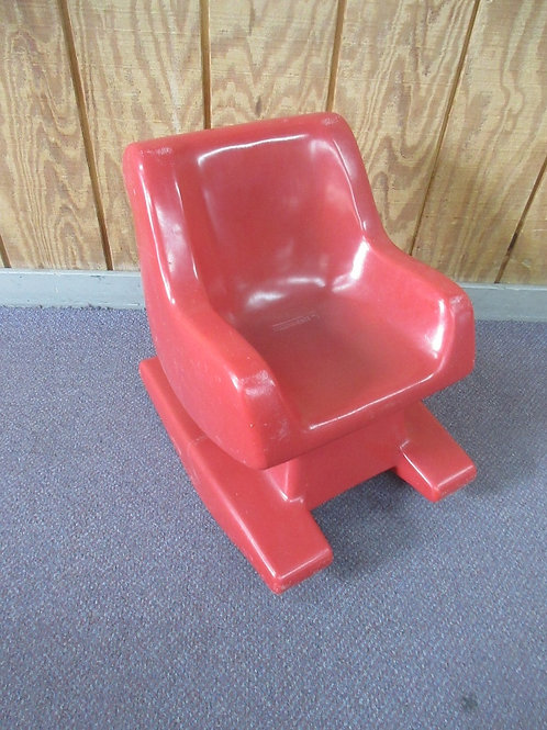 Hollow Cast childrens red plastic rocking chair
