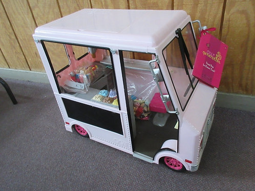 Our Generation sweet stop ice cream truck with accessories