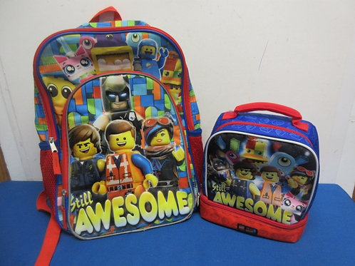 Lego Movie 2 pc backpack and insulated lunch box set