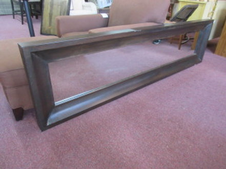 "Very heavy long wide metal framed mirror-24x94"" Very unique"" over 7ft.long"