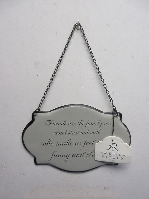 """America Retold wall hanging """" Friends are the family… 6x8"""""""