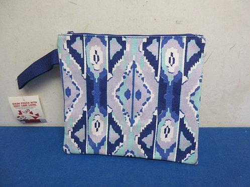Bikini Bags, shades of blue zippered pouch-new