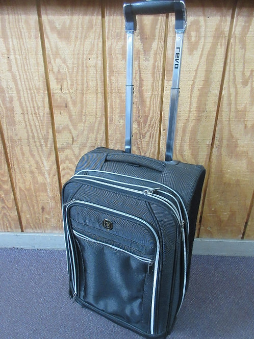 Black and gray medium revo suitcase on wheels