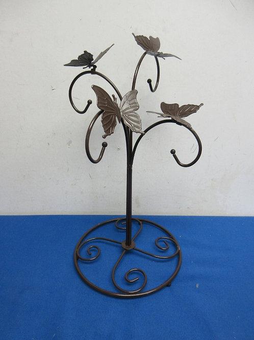 Brown metal butterfly design mug tree - 2 avail