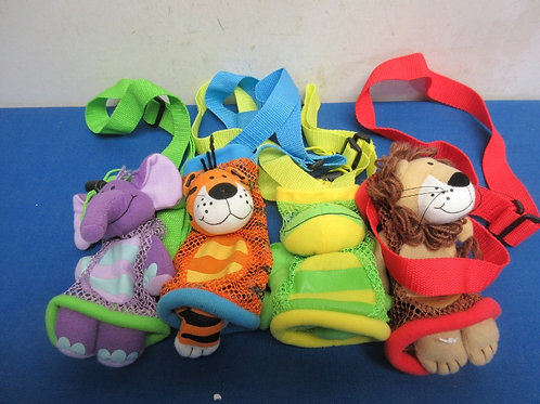 Set of 4 assorted animal water bottle covers
