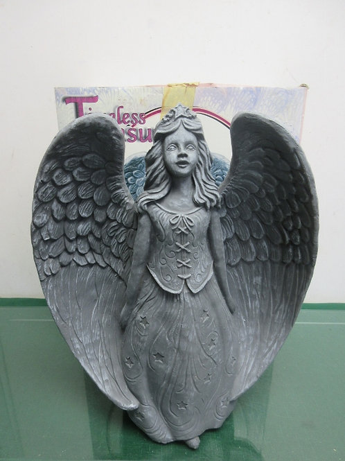 """Timeless Treasure polystone garden angel statue, 14.5"""" tall, 2 available"""