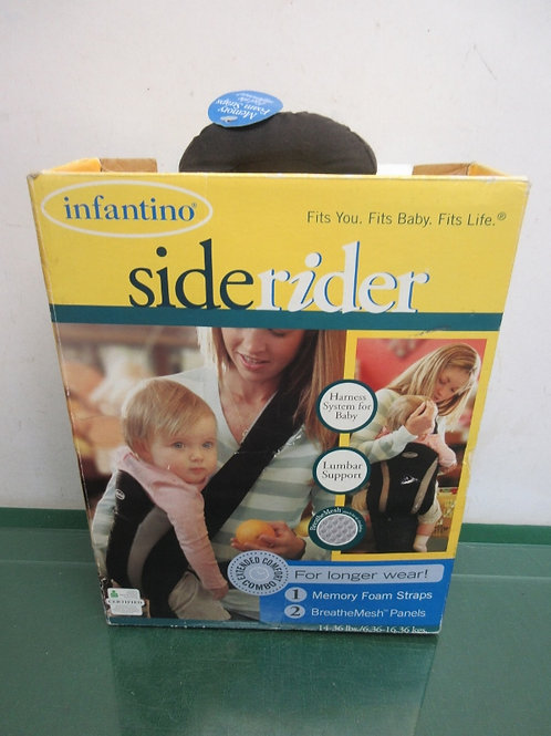 Infantino side rider baby carrier with memory foam straps - 14-36 pounds - new i